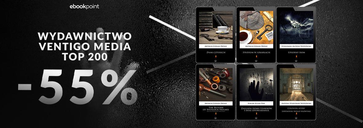 Promocja Promocja na ebooki TOP200! Wydawnictwa Ventigo Media